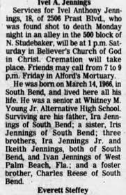 Obituary for Ivel Anthony Jennings (Aged 18) - Newspapers.com