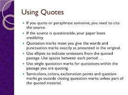elements of mla format and documentation ppt video online  using quotes if you quote or paraphrase someone you need to cite the source