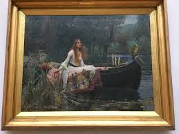 the lady of shalott by john william waterhouse c 1888 displayed in tate britain
