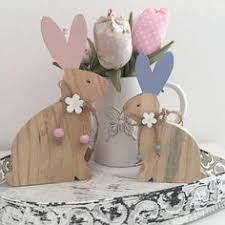 Wood Handmade <b>Easter</b> Rabbit <b>Decoration 6PCS</b>/<b>set</b> | Products ...