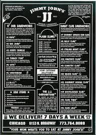 jimmy john s menu