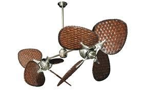 tropical ceiling fan blades twin star ii brushed steel tropical dual ceiling fan with 46 dark