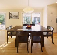 size dining room contemporary counter: large square dining table dining room contemporary with bamboo flooring dark wood