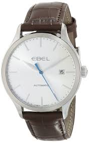 ebel men s 1216088 ebel 100 stainless steel watch leather ebel men s 1216088 ebel 100 stainless steel watch leather band