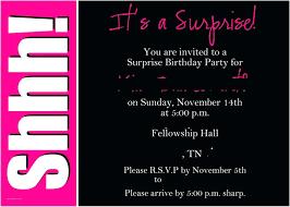 020 Surprise Party Invitation Template Birthday Invitations