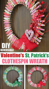easy diy valentines clothespin wreath kitchen cents