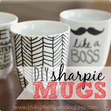 diy black sharpie mugs