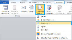 Envelopes Address Print How To Create And Print Envelopes From The Mailing List In Word
