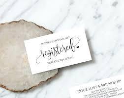 Wedding Registry Card Template Totalgroup Me