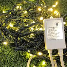 Warm White Led String Lights White Wire String Lights Festive Lighting Christmas Complete