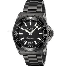 "gucci watches official gucci stockist watch shop comâ""¢ mens gucci gucci dive watch ya136205"