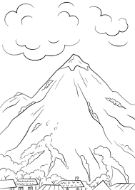 Small Picture Mountain Scene coloring page Free Printable Coloring Pages