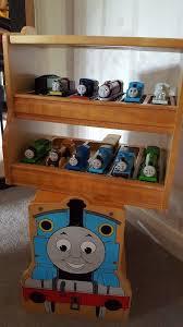 thomas wooden train storage stool