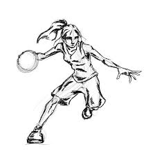 Basketball Drawing Pictures Girls Play Basketball Too Drawing To Do In 2019 Basketball