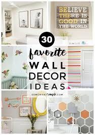 30 favorite wall decor ideas