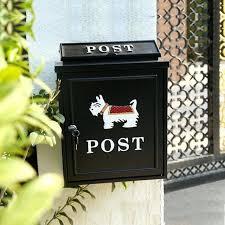 aluminum mailbox post. Cast Aluminum Mailbox Large Letter Box Outdoor Lockable Secure Mail Post Postbox Standard