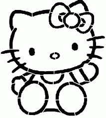 hello kitty stencil printable clipart best hello kitty stencil printable az coloring pages