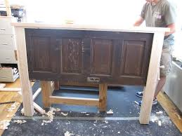 ain t she crafty how to build a headboard from an old door