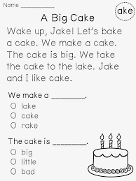 1St Grade Reading Passages With Questions Worksheets for all ...