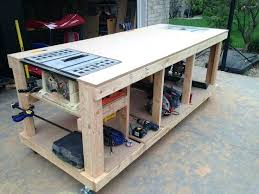 stylish design wood working table amazing mobile woodworking bench plans home ideas a free workbench pdf