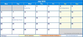 July 2015 Uk Calendar With Holidays For Printing Image Format
