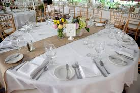 rustic wedding centerpieces with large round table and small