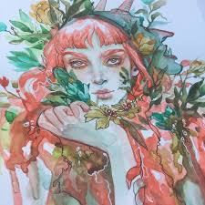 making prints of watercolor paintings all finished this lass i let the watercolour do it s