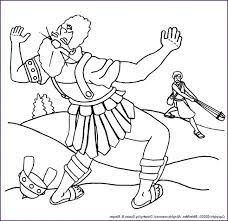 David And Goliath Coloring Pages And Coloring Page And Coloring Page