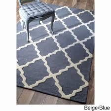 moroccan rug luxury nuloom hand hooked alexa moroccan trellis wool rug 36 x 56 blue
