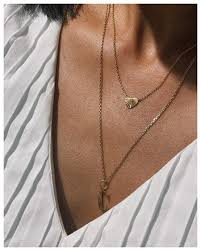 reflection heart necklace gold plated