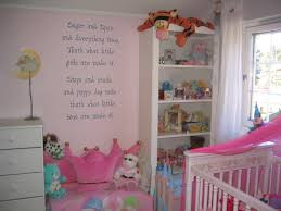 Image of: Wall Baby Girl Nursery Decorations
