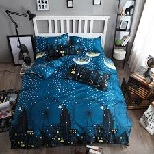 kids space bedding set duvet covers bed sheets clothes kawaii throughout cover inspirations 7
