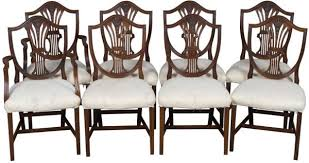 with six side chairs and two arm chairs these shield back dining chairs would go well in any dining room