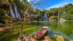 waterfall kravice in bosnia and