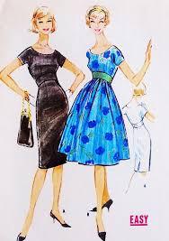 1950s Dress Patterns Inspiration 48s Empire Waist Slim Or Full Skirt Dress Pattern McCALLS 48 Day