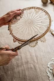Ideas For Making Dream Catchers Mokkasin How to make doily hoop art dreamcatchers Decor ideas 98