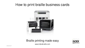 How To Print Braille Business Cards On Everest D V4v5