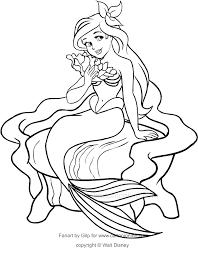 Disegno Di Ariel Sul Trono La Sirenetta Da Colorare