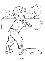 Baseball Coloring Picture To Print Free