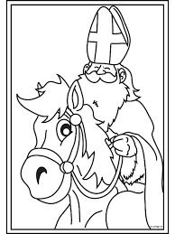 Paard Sinterklaas Kleurplaat Archidev