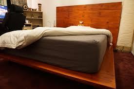 Bed Frame : Building Platform King Size Plans Diy With Headboard ...