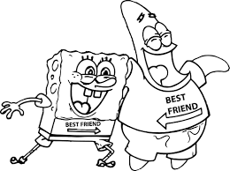 Sponge Bob Coloring Pages Patrick And Spongebob Printable Scd42