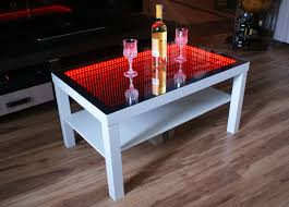 coffee table led coffee table diy interactive lights white with