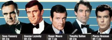 James Bond Comparison Chart John Cleese Claims Daniel Craig Is Too Short To Play James