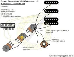 15 best guitar wiring diagrams images on pinterest guitar 1950s Strat 5 Way Switch Wiring Diagram super strat wiring diagram (humbucker, 2 single coils) 5-Way Guitar Switch Diagram