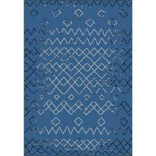sunshine collection navy 5 ft x 8 ft outdoor patio area rug