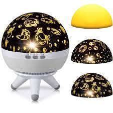 Baby Girl Night Light Projector Rotating Night Light Projector Color Changing Night Light