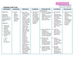 Sample Care Plan Best Of Nursing Care Plan Example Blank Nursing