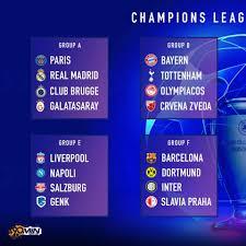 Der gruppenphase der uefa europa league. 90min Die Champions League Gruppenphase 2019 20 Im Facebook