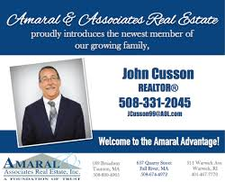 New Realtor Announcement John Cusson Amaral And Associates Real Estate